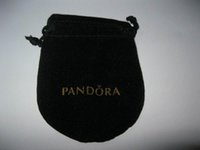 Wholesale New stlye Black Jewelry Pouches Bags Original Jewelry Packaging Bags Velvet Drawstring Bags x8 cm
