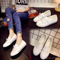 band fund - Yan Tang Star Fund Flat Bottom Tassels White Leisure Time Joker Pedal Dawdler Student Women s Shoes Le Fuxie Woman