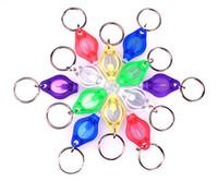 De 7 colores mini luz de la antorcha Mini anillo dominante de las luces blancas LED UV LED Bombillas Ton II fotón 2 Micro luz LED llavero linterna 7E
