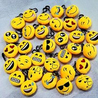 Wholesale New style Emoji toys for Kids Emoji Keychains Mixed Emoji Keyrings Bag pendant cm