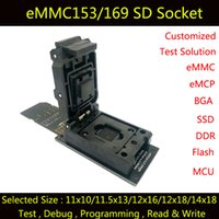 Wholesale eMMC test adapter with SD Interface Clamshell Structure for BGA153 x13 x16 x18 x18 BGA169 test socket for data recovery
