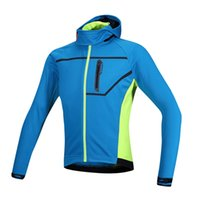 Wholesale Santic Breathable Windproof Winter Cycling Jacket Cycling Clothing Bicycle Bike Hooded Coat Thermal Fleece Removable Hood order lt no track
