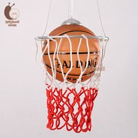 basketball pendant light - American basketball droplight children room bedroom chandeliers retro bar counter sports stores of lamps and lanterns
