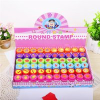 Wholesale Teaching Tool Emoji Stampers Plastic Stamps Stamos Super Cute Count Emoji Fruit Animal Stampers Fun Party Favors Kids E724E