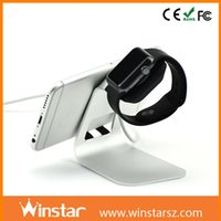 Wholesale 2 in Aluminum stand for smart watch charge dock and for mobile phone charge stand holder
