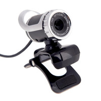 Wholesale USB Megapixel HD Camera Webcam Web Cam PC Camera with MIC Clip on for Desktop Skype Computer PC Laptop