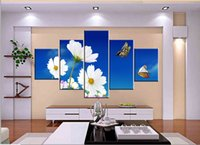 bamboo animations - Unframed pieces Canvas Prints Daisy butterfly Bamboo tea garden tree lake mountain Abstract line animation natural scene