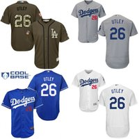 baseball chase utley - white blue Grey Chase Utley Authentic Jersey Men s Los Angeles Dodgers Flexbase Collection