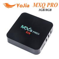 Wholesale 12pcs MXQ Pro Android TV Box Amlogic S905X S905 RK3229 Android QuadCore Rom GB GB H K Google Streaming tv box