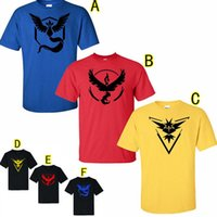 Wholesale 6 Style Mens Fashion Summer Top T shirts Poke Go T shirts Summer Cartoon Short Sleeve Cotton O Neck T shirt Pocket Monster T shirt LA289
