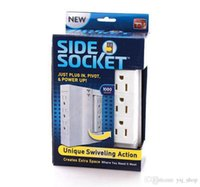 Wholesale 2015 AAA Side Socket Swivel Plug Outlet Multi Plug Outlet With Surge Protection voltage V outlet