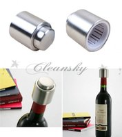 Wholesale DHL Fedex Free Hot selling Stainless Steel Vacuum Sealed Red Wine Storage Bottle Stopper Plug Bottle Cap Pressing type red wine Stopper M325