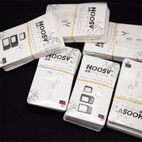 Wholesale 2016 In Noosy Nano Micro SIM Adapter SIM Slot Eject Pin For Iphone For Iphone S With SIM Card Retail Box Free Ship