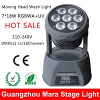 auto wash equipment - Mini W RGBWA UV Led Wash Moving Head Light DMX V KTV Club Bar Disco Dj Light Professional Stage Lighting Equipment