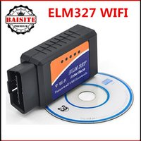 Wholesale High quality Auto Diagnostic Tool ELM327 WIFI Scanner OBD2 OBD II elm wifi wi fi Support IOS and Android
