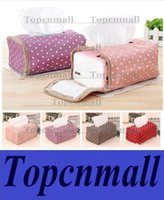 Wholesale Tissue Boxes Napkin Bag Fabric Cloth Polka Dot Creative Tissue Drawing Zipper Pouch