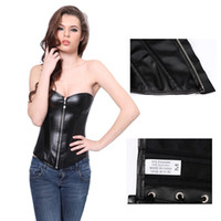 lingerie 3x - In Stock Sexy Black PU Faux Leather Busiter Corset and Thong Lingerie Plus Size L X X X XL