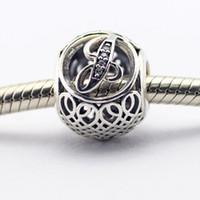 animals letter j - Vintage J Clear CZ Sterling Silver Beads Fit Pandora Charms Bracelet Authentic DIY Fashion Jewelry