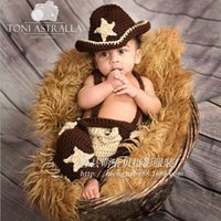 baby cowboy pictures - Children s clothing photography studio hand knitted clothing baby pictures cowboy other props