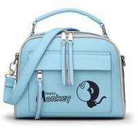 bead stuff - Women Pu Backpack Stuffed Monkey Student Bag Cartoon Character School Bag famous brand leisure small backpack bag Children Bag