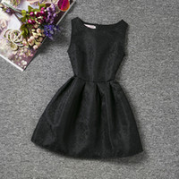 baby clothes decorations - Solid Dress Baby Clothes Tutu Lolita Outfits Kids Girls Skirt Dress Baby Clothes with Floral Decoration for Girls LM015