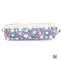 Wholesale New Arrival fashion Cute Polka Dot Floral student pencil bag storage bag stationery cases drop shipping OSS
