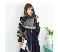 Wholesale Women s Winter Fashion Pashmina Cashmere Shawl Wraps Blanket Scarf Stole Poncho Capes Cloak Cardigans Coat Patchwork Plaid Thick Jacket