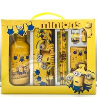 Wholesale 2016 Children Stationery Set Pencil Case Student Learning Supplies Cartoon Despicable Me Minions Frozen Stationery Bags Kids Education Toys