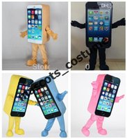 apple iphone advertising - Iphone c Promotion Mascot Costume Express Advertising Phone Mobile Store Mascot Costume Cell Phone Apple high quality Adult Size SALE