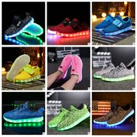 b rollers - Kids LED Coconut Shoes Light Up Sport Flats Luminous Sneakers Casual Shoes LED Light Heelys Roller Skate Shoes Running Kanye Shoes B906