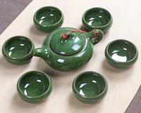 Wholesale Crackle Glazeceramic tea set tea set of kung fu Teapot1 a teacup lowest whole network