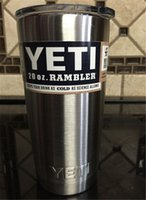 steel water bottles - Discount Price Stainless Steel oz Yeti cup RAMBLER TUMBLER Silver YRAM20 Stainless Steel Insulation Cars Beer cup