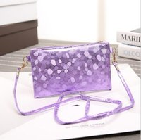 Wholesale Ms Clutch wallet stone pattern The trend of casual Shoulder Messenger mobile phones and wallets Synthetic leather Purple Champagne blue