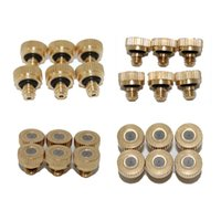 Wholesale 002 New Brass Misting Nozzles for Cooling System with Stainless Steel Orifice to mm Garden