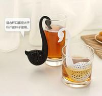Wholesale Swan Silicon Tea Infuser Leaf Silicone Tea Infuser with Food Grade Make Tea Bag Filter Creative Tea Strainers Food Grade