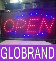 Wholesale 2016 hot sale super brightly customized led light sign led open sign billboard Inch semi outdoor GLO649