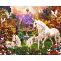 antique hobby horse - HWB The white horse DIY diamond painting Needlework diamond mosaic diamond embroidery hobbies and crafts x40cm