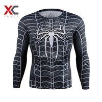armour hero - Marvel Super Heroes Avenger Batman sport T shirt Men Compression Armour Base Layer Long Sleeve Thermal Under Top Fitness S XL