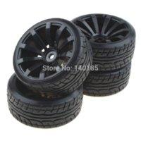 antenna manufacturers - 4PCS Tires With spoke Black Wheel Rims For RC Nitro Car Flat Racing Car wheel rim manufacturers