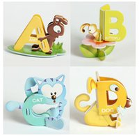 abc papers - Letters Aminal Design D DIY Educational Early Learning ABC Baby Toys Paper Puzzle For Children