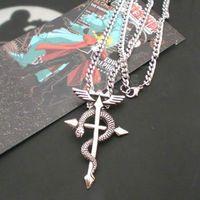 alchemist movie - New Quality Full Metal Alchemist Edward Steel Pendant Necklace Cosplay Best Gift Movie Jewelry