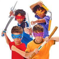 Wholesale Newest Game TMNT Teenage Mutant Ninja Turtles Cosplay Weapons Anime Action Figure Plastic Samurai Sword Model For Children Knife Classic Toy