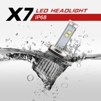 Wholesale H4 LED Headlight All in One Conversion Kit Watt Lm K Cool White CREE Low Beam High Beam Fog Light Bulbs Yr Warranty