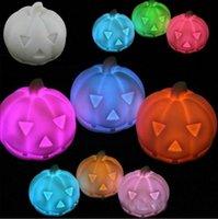 Wholesale Hot New Halloween LED changing light Pumpkin night light lamp Colorful Pumpkin decoration Night Light EMS
