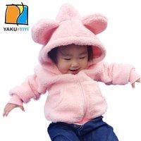 bear fair - Bears Ears Thicken Girl Coat Solid Lamb Wool Zipper Fly Outwear Cute Fair Maiden Kids Wear YAKUYIYI