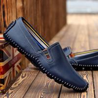 bean c - 2016 Summer Luxury Bean Bean Men Shoes Genuine Leather Brand Men Shoes Men Casual Shoes Breathable Lazy Set Foot Men Casual Shoes