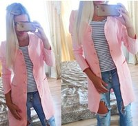 Wholesale Hot sale Europe and America new fashion women single breasted coat candy color coat women trench coat