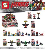 Wholesale Super Hero Captain Falcon Iron Man Queen SY295 Minifigures Kai Building Block Minifigure Toys
