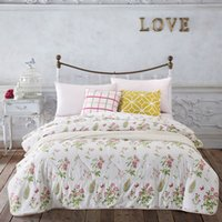 Wholesale summer comforter Floral FLOWER luxurious Duvet quilt white pink comforter bedding x200cm x200cm x230cm Spring amp Summer