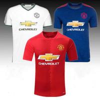 Wholesale 16 and home short sleeve pogba away zlatan ibrahimovic football jerseys POGBA Soccer jers MARTIAL Soccer Jersey football Shirt